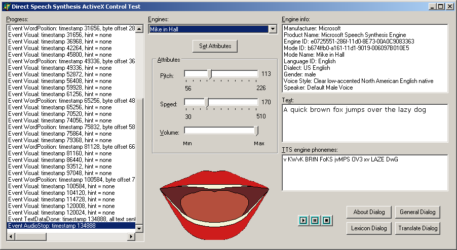 Speech Synthesis & Speech Recognition Using SAPI 4 Low Level